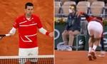 Djokovic cứu bóng trúng mặt trọng tài ở giải Roland Garros