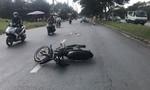 TPHCM: Thanh niên lái xe máy tốc độ cao tông CSGT nhập viện