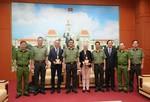 Tổng lãnh sự và Tuỳ viên cảnh sát Đại sứ quán Pháp thăm Công an TPHCM