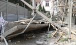 Sập mái nhà ủy ban xã đang thi công, một người tử vong