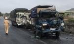 Không giữ khoảng cách, 4 xe tải tông nhau, một lái xe tử vong