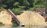 Bạn đọc tiếp tục phản ánh các bãi cát sỏi gây ô nhiễm, đường sá hư hỏng