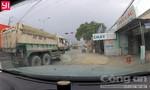Tước bằng lái các tài xế đoàn xe ben vượt đèn đỏ trên QL1K