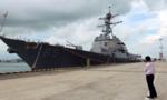 Tàu chiến Mỹ qua eo biển Đài Loan trước thềm bà Thái nhậm chức