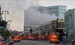 Tòa nhà ở Mỹ phát nổ lúc xảy ra cháy, khiến 11 lính cứu hỏa bị thương