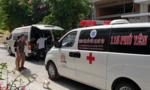 Sập giàn giáo xây dựng, 4 người bị thương nặng
