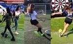 Clip hotgirl sút phạt như Ronaldo