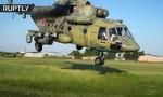 Clip phi đội trực thăng Mi-8 trình diễn tiêu diệt mục tiêu giả định