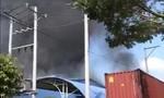 Cháy lớn tại xưởng sản xuất nệm mút