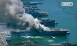 Clip tàu sân bay của Mỹ bốc cháy, 21 thủy thủ bị thương