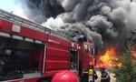 Cháy dữ dội trong KCN Tây Bắc Ga ở Thanh Hóa
