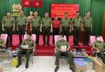 CBCS lực lượng Cảnh vệ phía Nam hiến máu cứu người