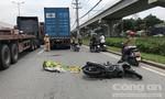 TPHCM: Thanh niên vừa cưới vợ được ít ngày, bị container lấn làn cán chết