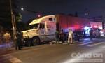 Container cán chết người, đường vào cảng Cát Lái ùn tắc nghiêm trọng