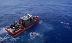Clip tuần duyên Mỹ nổ súng đuổi cá mập tiếp cận nhóm lính đang bơi