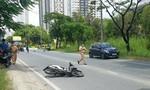 TPHCM: Va chạm với ôtô, thanh niên văng xa nhiều mét
