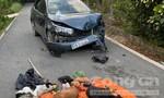 Nhóm cẩu tặc lái ôtô đi trộm chó, tông xe công an khi bị truy đuổi