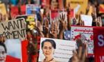 Những cuộc biểu tình không người, diễn ra trong ánh nến ở Myanmar