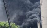 Cháy lớn tại bãi phế liệu ở huyện Bình Chánh