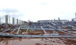 Nhà xưởng hơn 15.000 m2 đang xây dựng bất ngờ đổ sập