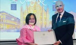 Bà Trang Lê nhận Huân chương Công trạng – Tước hiệu Hiệp sĩ Italia