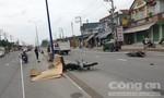 Hai xe máy chạy cùng chiều va chạm, 1 người chết, 1 người bị thương