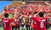 Clip: U22 Việt Nam ăn mừng kiểu Viking sau chiến thắng trước Campuchia