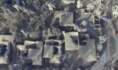 Clip cận cảnh ngôi làng ở Philippines bị tro núi lửa phủ dày