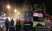 Xe tải đang lưu thông bất ngờ bốc cháy