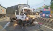 Xe tải tông xe container dừng ở làn ô tô, 1 tài xế thiệt mạng