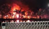 """""""Bà hỏa"""" thiêu rụi nhà xưởng công ty gỗ ở Đồng Nai"""
