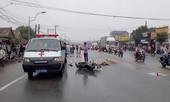 Hai xe máy va chạm, 1 người bị xe tải cán tử vong