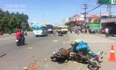 Vụ xe khách tông người nằm la liệt: Tài xế chạy sai làn đường