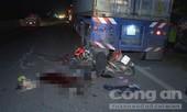 Tông vào đuôi xe container đậu ven đường, một người tử vong tại chỗ
