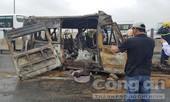 Vụ tai nạn trên cao tốc HLD: Thi thể tài xế cháy đen trong cabin biến dạng