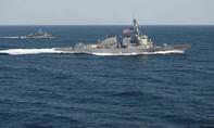 Hôm nay, Mỹ đưa tàu khu trục áp sát các đảo nhân tạo Trung Quốc xây trên Biển Đông