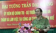 Đại tướng Trần Đại Quang thăm và làm việc tại Công an tỉnh Thừa Thiên – Huế