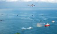 Hàng chục tàu biển, máy bay diễn tập cứu nạn hàng không tại Nghệ An