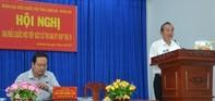 Chánh án TAND tối cao Trương Hoà Bình tiếp xúc cử tri tỉnh Long An