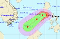 Tâm bão Melor hướng vào quần đảo Trường Sa