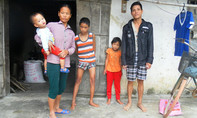Vợ oằn mình nuôi chồng bị tai nạn cùng 3 con bệnh tật
