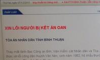 Tòa án nhân dân tỉnh Bình Thuận đăng báo xin lỗi ông Huỳnh Văn Nén