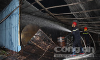 Hỏa hoạn thiêu rụi kho chứa cồn cùng máy móc