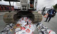 Tiêu hủy 1 tấn hàng gia dụng nhái thương hiệu