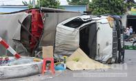 Lật xe chở bia, phụ xe chết trong cabin