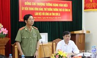 Thượng tướng Đặng Văn Hiếu thăm và làm việc tại Công an tỉnh Sơn La
