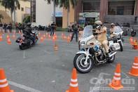 CSGT Đồng Nai, luyện kỹ năng điều khiển xe mô tô phân khối lớn