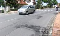 Mặt đường phố núi 'biến dạng'