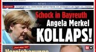 Nữ thủ tướng Đức Angela Merkel bất tỉnh hai phút hay ghế gãy chân?