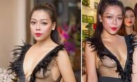 """Hà Linh gây """"sốc"""" dư luận với váy ren xuyên thấu"""